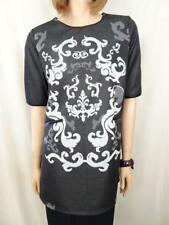 KATIES Black Jacquard Tunic Sz M BNWT BUY ANY 5 ITEMS = FREE POST