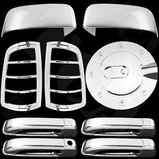 For Dodge Ram 2500 3500 10-15 Chrome Cover Set Upper Mirror 4 Door Taillight Gas