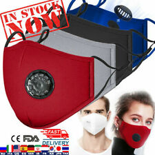 Face Mask Reusable, Washable, Cotton Fabric Mask + 4 x PM 2.5 Filters