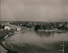 Schweiz, Rheinfelden (Aargau, Argovie) Vintage photomechanical print. Switzerlan