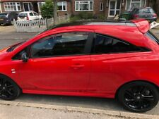 Vauxhall Corsa E Rear Window Louvres Show Stance Race Track