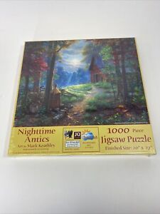 New Nighttime Antics 1000 pc Jigsaw Puzzle by Sunsout Art Mark Keathley sealed