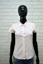 Camicia Donna TOMMY HILFIGER Taglia XS Maglia Manica Corta Shirt Woman Elastica