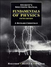 Fundamentals of Physics, Student's Solutions Manual, Halliday, David, Good Condi