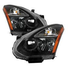 Fit Nissan 08-13 Rogue 14-15 Rogue Select Black Replacement Headlights S SL SV