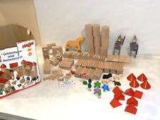 *HABA (Haba) Building Blocks Castle knights Horse Germany