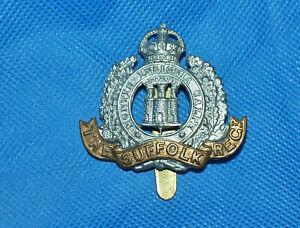 Military Regimental Army Cap Badge with Slider - The Suffolk Regiment