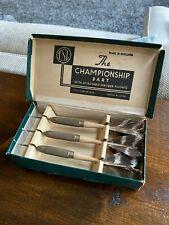 Vintage Set of TSL Championship Brass Darts Original Feather Flights Boxed