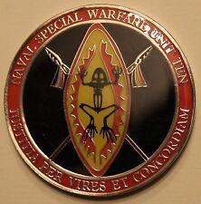 Naval Special Warfare Unit Ten SOCAFRICA SEAL Teams Epoxy Navy Challenge Coin 10