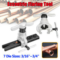 "37 Degree Steel Eccentric Cone Flaring Tool 3/16""-3/4"" Refrigeration Copper Tube"