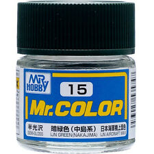 GSI CREOS GUNZE MR HOBBY Color C015 C15 IJN Green Nakajima LACQUER PAINT 10ml