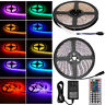 5M SMD RGB 5050 Waterproof 300 LED Strip Light 44 Key Remote 12V 5A Power lot