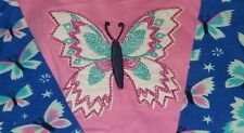 HATLEY Baby Girls Pink Butterfly One-Piece Long Sleeve Pants Romper Sz 6-12M NWT