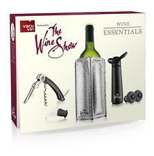 Vacu Vin The Wine Show Wine Essentials Gift Set Black