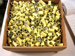 AMP 35149  YELLOW RING STUD #6    WIRE GA.12-10   100 PCS