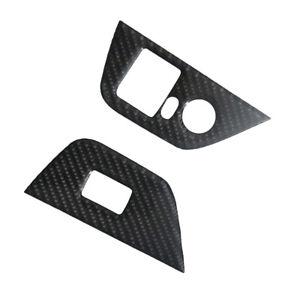 Car Carbon Fiber Sticker Door Lift Control A Decal For BMW Z4 Convertible 2PCS