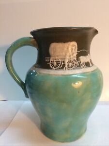 Large Vintage Pisgah Forest Cameo Pitcher 1942