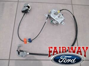 99 thru 07 Super Duty OEM Ford Rear Door Latch & Cable Extended Cab RH PASSENGER