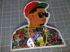 DUDE RED HAT COLORFUL GLOSSY Sticker Skateboard/phone Bombit NEW