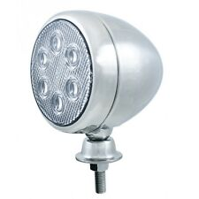 """5"""" Round Tear Drop White 6 LED Chrome Work Light  / 18 Watt Light  / 12V - 24V"""