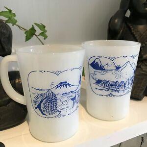 Coffee Cup - Coffec Mug, Preloved Set of 2 - CROWN