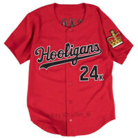 Bruno Mars 24K Hooligans Baseball Jersey men's Shirt Stitched Red
