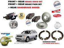 FOR JEEP GRAND CHEROKEE 2005-> FRONT + REAR BRAKE DISCS SET + PADS + SHOES KIT