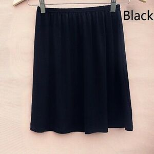 Lady Cotton Blend Underskirt Elastic Waist Solid Petticoat Underdress Casual New