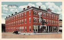 McPherson Kansas Union Hotel Street View Antique Postcard K28270