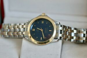Omega Seamaster Full Size 36mm Blue Dial 120m 18kt Solid Gold & Steel Automatic
