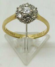 18ct Yellow gold & Platinum 30 point diamond 7 stone ring size M 2.35 grams