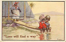 love will find a way ! artist signed lewin .1923