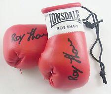 Autografiada Mini Guantes De Boxeo Roy Shaw