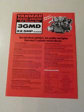 Yanmar Marine Diesel Engine 3GMD Dealer Sales Brochure Sheet Specifications