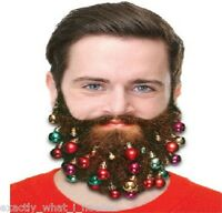 9 Fun Novelty Clip On Beard Xmas Baubles Facial Hair Clips Secret Santa Gift