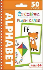 NEW 50 Alphabet Flash Cards - Preschool Pre-K Toddler Kindergarten Ages 4+