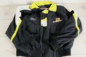 Vintage Ford Miller Racing Jacket Rusty Wallace Autographed Sz Med Windbreaker