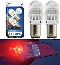Philips Vision LED Light 1157 Rouge Red Two Bulbs Stop Brake Replacement Lamp OE