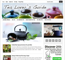 * TEA LOVER'S * ready made website business for sale with AUTO UPDATING CONTENT
