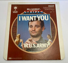 Bill Murray in Stripes Video Disc Vintage 1982 I Want You For U.S. Army Laserdis