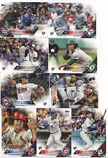 2016 Topps Update Master Set 395 total cards, 5 Insert Sets, RC-Seager Schwarber