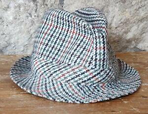 Vintage Whatbaron tweed trilby hat size M 58cms RETRO MOD SCOOTER BOY