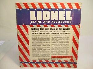 Lionel 1941 Dealer Catalog Rare Full Color Prewar O Gauge X6724