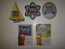 Collection 5 New SAMUEL ADAMS BOSTON LAGER 2-Side Beer Coasters < Great Gift >