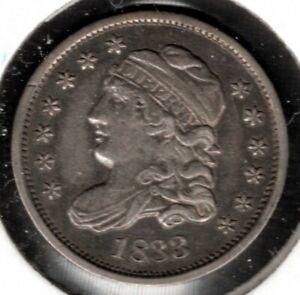 1833 Capped Bust Half Dime - AU