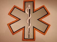 EMS Star of Life Orange Patch 7""
