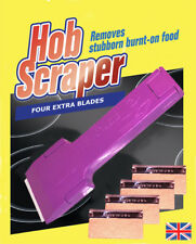 CERAMIC HOB TILE OVEN SCRAPER + 4 EXTRA BLADES - UK MANUFACTURED
