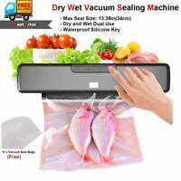 Automatic Vacuum Sealer Machine Food Storag Home Sealing System + 10 Starter Bag