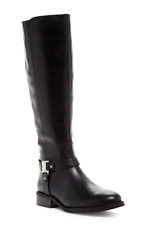 Vince Camuto Farren Women's Black Leather Riding Boot Sz 5 3098 *
