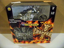 2004 1:18 Scale West Coast Choppers Jesse James R/C Sturgis Special Silver